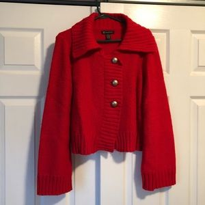 Heavy Button Down Sweater / Jacket in Red